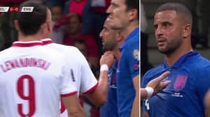 Kamil Glik 'Pinched' Kyle Walker's Throat Last Night, Managed To Avoid A Red Card