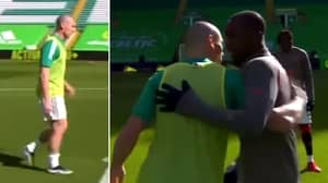 Celtic Captain Scott Brown Shows His Support To Rangers' Glen Kamara In Touching Moment