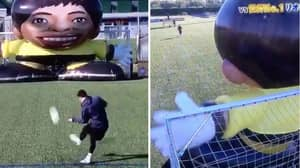 Lionel Messi's Free-Kick Accuracy Against Giant Robot Proves He's Not Human