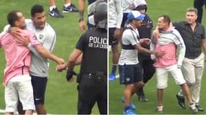 Carlos Tevez Saves Pitch Invader From Police, Gives Him His Training Shirt