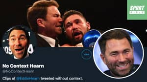 No Context Eddie Hearn Goes Viral And Is Branded 'Best Twitter Account To Ever Exist'