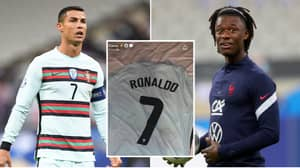 Eduardo Camavinga's Reaction To Getting Cristiano Ronaldo's Shirt Is Genuinely Priceless