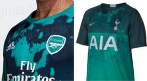 Arsenal's New Shirt Looks Really Similar To Spurs' Jersey And Gunners Fans Are Not Happy