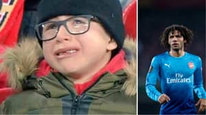 Mohamed Elneny Responds To Picture Of Young Arsenal Fan Crying