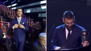 Fans Have Spotted The Key Difference Between Lionel Messi And Cristiano Ronaldo When They Collect An Award