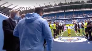 Sergio Aguero Given Double Guard Of Honour In Emotional Scenes At The Etihad