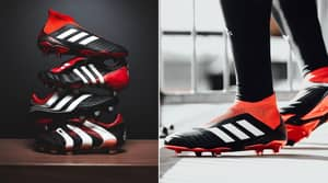 The New Adidas Predator Returns In The Classic Red, Black And White Colourway
