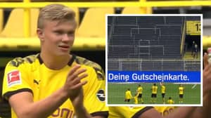 Borussia Dortmund Hilariously Clap And Pay Tribute To An Empty 'Yellow Wall'
