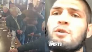 Khabib Nurmagomedov Reacts To Conor McGregor Punching Old Man In Dublin Bar