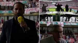 BBC Pundits Celebrating Raheem Sterling's Goal vs Germany Is Perfect