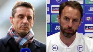 Fans Baffled At Gary Neville Dropping England Star In His Three Lions XI For Ukraine Clash
