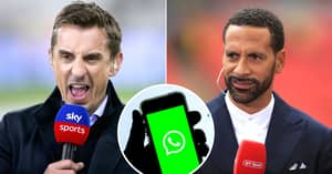 Gary Neville Sets Up WhatsApp Group With Rival Pundits To Battle Premier League Big Six