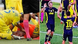 Giorgio Chiellini And Paulo Dybala Branded 'Disgusting' For Celebrating Whilst Chievo Keeper Was Unconscious