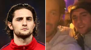 Adrien Rabiot Caught Celebrating PSG's Defeat Last Night After Being Frozen Out The Squad