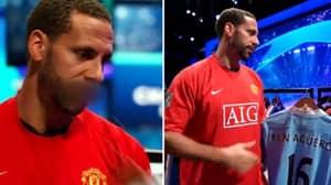 Rio Ferdinand Comes Across Sergio Aguero's 2012 Shirt He Wore vs QPR