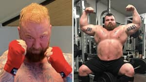 'The Mountain' Shares Image Of His Dramatic Weight Cut Ahead Of Eddie Hall Fight