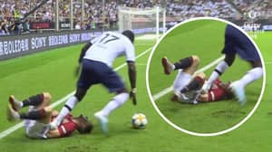 Tottenham's Moussa Sissoko Stamps On Manchester United's Daniel James During Pre-Season Friendly