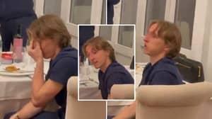 Luka Modric Gets Emotional As Croatia Teammates Give Him Standing Ovation