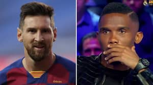 Samuel Eto'o Reacts To Lionel Messi Potentially Leaving Barcelona This Summer