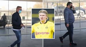 Erling Haaland's Dad And Mino Raiola Seen In Barcelona Ahead Of Potential Transfer