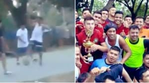 Ronaldinho Loved By Paraguayan Prison Inmates And Is Teaching Them Football Tricks