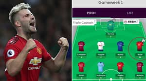 Fantasy Football Player 'Triple Captain's' Luke Shaw And He's Already Got 46 Points
