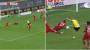 Jerome Boateng Blocks Erling Haaland's Shot With His Arm But No VAR Review