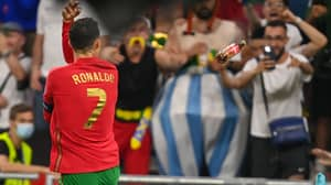Fans Throw Coca-Cola Bottle At Cristiano Ronaldo During Goal Celebrations