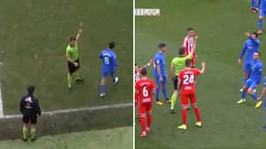 Fuenlabrada Player Sees Red Card Decision Overturned, Before Getting Himself Sent Off