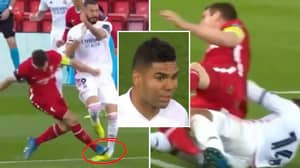 Casemiro Gets His Revenge On James Milner For His Shocking Tackle On Karim Benzema