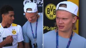 Erling Haaland Told He's A Lower Rating Than Kylian Mbappe In FIFA 22, He Really Isn't Happy