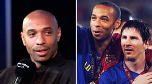 Thierry Henry Didn't Hesitate When Asked Who Best Player He's Played With Is, It Wasn't Lionel Messi