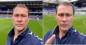 Duncan Ferguson Gives Terrifying, Expletive-Filled Warning To Everton Fan For Slacking In School