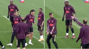 Manchester United Fans Love Bruno Fernandes Losing His Cool With Alex Telles In Training