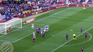 Lionel Messi Scores 'Panenka' Free-Kick In Derby Against Espanyol