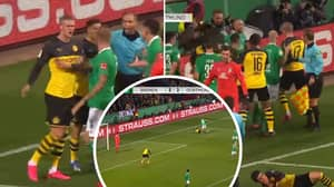 Erling Haaland Involved In Mass Brawl As Borussia Dortmund Get Knocked Out Of Cup