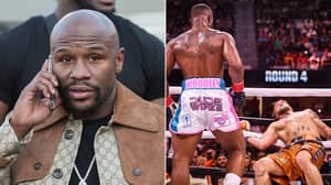 What Floyd Mayweather Told Tyron Woodley After Losing To Jake Paul