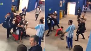 Watch: Shocking Scenes As Argentina Fans Attack Croatia Supporters