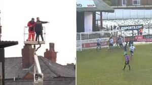 Chorley Fans Use Cherry Picker To Watch FA Cup Clash With Derby County For Free, It's Absolute Genius