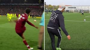 Trent Alexander-Arnold And Average Man Attempt To Recreate THAT Corner Kick Against Barcelona