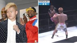 Footage Shows Floyd Mayweather Will Have To Take Tenshin Nasukawa Seriously