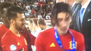 WATCH: Fans Found Hector Bellerin's Response To His Runners-Up Medal Hilarious