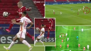 Thiago Produced A Gorgeous Karate Kick Pass To Mohamed Salah During Liverpool's Champions League Win