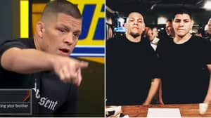 Nate Diaz's Brilliant Response When Asked If He'd Fight His Brother Nick In The UFC