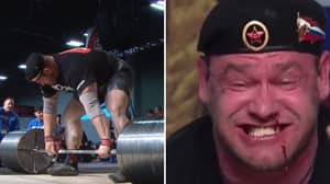 Watch: The Gruesome Moment Blood Splatters From Strongman's Nose During 67st Deadlift
