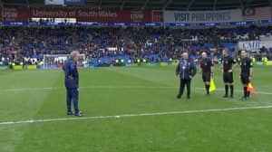 Neil Warnock's Stare Down With The Officials At Full-Time Is Hilariously Awkward Viewing