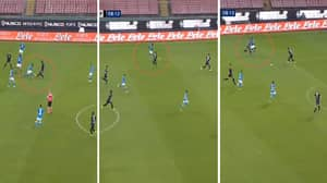 Napoli Centre-Back Kalidou Koulibaly Storms Down The Left Wing And Sets Up Lorenzo Insigne Goal