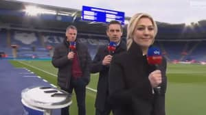 Kelly Cates Brilliantly Gets Revenge On Gary Neville And Jamie Carragher