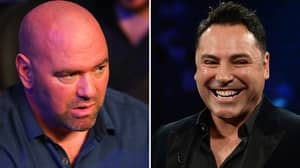 Oscar De La Hoya Intensifies Rivalry With Dana White By Challenging Him To A Fight