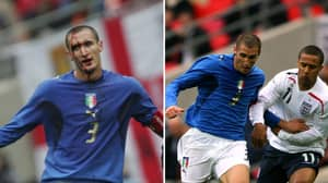 Giorgio Chiellini Captained Italy Under 21's In First Official Game At New Wembley 14 Years Ago